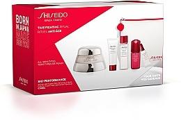 Parfumuri și produse cosmetice Set - Shiseido Bio-Performance Time Fighting Ritual (cr/50ml + conc/10ml + foam/15ml + softner/30ml + conc/3ml + bag)