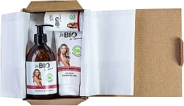 Parfumuri și produse cosmetice Set - BeBio Pomegranate And Goji Berries Set (sh/gel/400ml + b/lot/200ml + deo/roll-on/50ml)