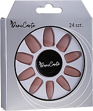 Parfumuri și produse cosmetice Unghii false, mate, cappuccino, 24 buc. - Deni Carte Cappuccino 0376
