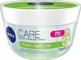 Parfumuri și produse cosmetice Gel hialuronic hidratant cu extract de castravete pentru față - Nivea Care Fresh Hydro Gel