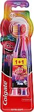 """Parfumuri și produse cosmetice Periuțe de dinți """"Smiles"""", 2-6 ani, violet-roz, foarte moale - Colgate Smiles Kids"""