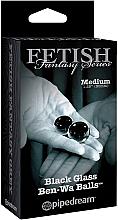 Parfumuri și produse cosmetice Вагинальные шарики из стекла, черные, 2 шт. - PipeDream Fetish Fantasy Series Black Glass Ben-Wa Balls