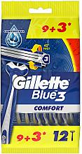 Parfumuri și produse cosmetice Set aparate de ras de unică folosință, 12 bucăți - Gillette Blue 3 Comfort