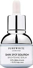 Parfumuri și produse cosmetice Ser iluminator împotriva petelor întunecate - Pure White Cosmetics Dark Spot Solution Brightening Serum