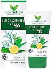 """Parfumuri și produse cosmetice Cremă de noapte pentru față """"Detox"""" - Cosnature Night Cream Detox Green Tea"""