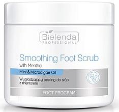 Parfumuri și produse cosmetice Scrub cu mentol și efect de netezire pentru picioare - Bielenda Professional Foot Program