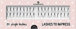 Духи, Парфюмерия, косметика Gene false - Essence Lashes To Impress 01 Single Lashes