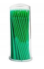 Parfumuri și produse cosmetice Microaplicatoare pentru gene, verde, 100 buc - Lewer Micro Applicators