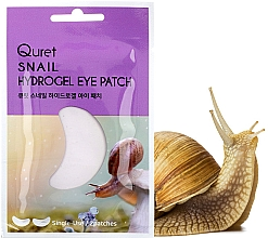 Parfumuri și produse cosmetice Patch-uri sub ochi - Quret Snail Hydrogel Eye Patch