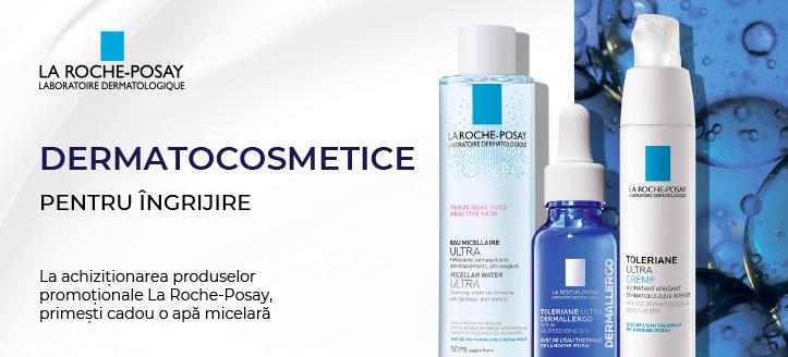 La achiziționarea produselor promoționale La Roche-Posay, primești cadou o apă micelară