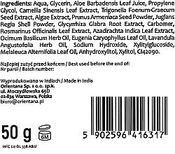 "Peeling-gel pentru față ""Alge marine și ceai verde"" - Orientana Natural Gel Face Scrub Philippine Seaweed & Green Tea — Imagine N5"