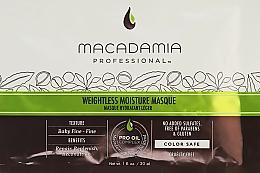 Parfumuri și produse cosmetice Mască hidratantă pentru păr subțire - Macadamia Professional Weightless Moisture Masque (mostră)