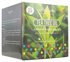 """Parfumuri și produse cosmetice Scrub pentru corp """"Ulei de arbore de ceai"""" - Rolling Hills Gommage Corps Naturel"""