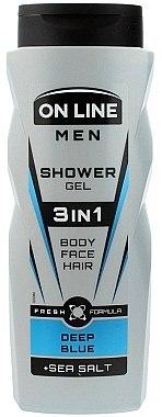 Gel de duș 3in1 - On Line Men 3in1 Deep Blue
