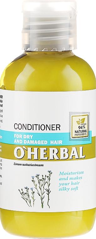Balsam pentru păr uscat și obosit cu extract de in - O'Herbal