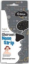 Parfumuri și produse cosmetice Очищающие полоски для носа - Cettua Charcoal Nose Strip