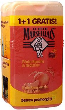 """Set """"Piersică albă și nectarină"""" - Le Petit Marseillais (sh/gel/250ml + sh/gel/250ml)"""