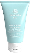 Parfumuri și produse cosmetice Peeling pentru pielea picioare și tălpi - Alessandro International Spa One Minute Pedicure Foot Scrub