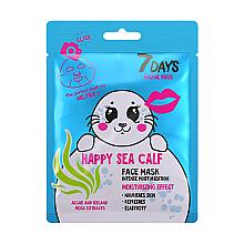 """Parfumuri și produse cosmetice Mască de față """"Happy sea calf"""" - 7 Days Animal Happt Sea Calf"""