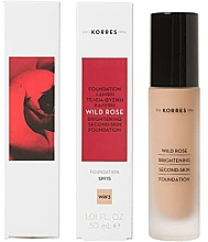 Parfumuri și produse cosmetice Fond de ten - Korres Wild Rose Brightening Second Skin Foundation SPF15