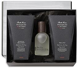 Духи, Парфюмерия, косметика Bath House Spanish Fig and Nutmeg - Набор (edc/100ml + shave/gel/100ml + shave/balm/100ml)