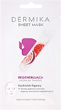 Parfumuri și produse cosmetice Mască regenerantă cu hidrolit de smochine pentru față - Dermika Sheet Mask