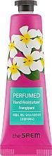 """Parfumuri și produse cosmetice Cremă parfumată pentru mâini """"Iasomie roșie"""" - The Saem Perfumed Frangipani Hand Moisturizer"""