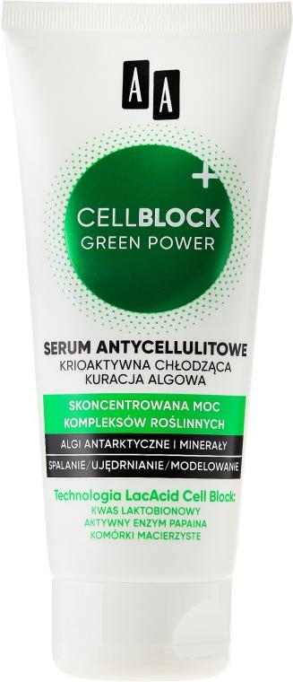 Ser Anticelulitic de corp - AA Cosmetics Cell Block Green Power Anti-Cellulite Serum — Imagine N2