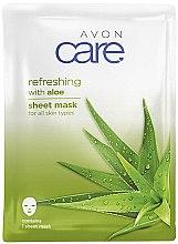 Parfumuri și produse cosmetice Mască cu extract de aloe vera pentru față - Avon Care Aloe Refreshing Sheet Mask