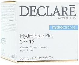 Parfumuri și produse cosmetice Cremă de zi pentru față SPF 15 - Declare Hydroforce Plus SPF 15 Cream