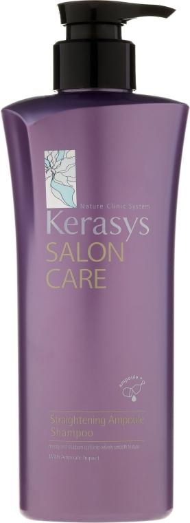"""Șampon """"Netezime și Strălucire"""" - KeraSys Salon Care Straightening Ampoule Shampoo"""