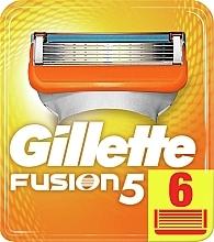 Parfumuri și produse cosmetice Casete de rezervă pentru aparat de ras, 6 bucăți - Gillette Fusion