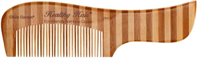 Pieptene de bambus, 2 - Olivia Garden Healthy Hair Eco-Friendly Bamboo Comb 2 — Imagine N1