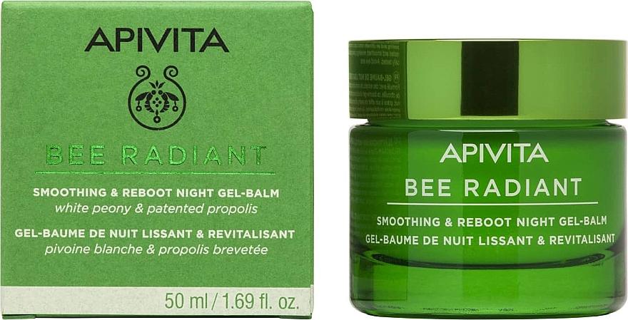 Ночной разглаживающий гель-бальзам-детокс - Apivita Bee Radiant Smoothing & Reboot Night Gel-Balm — фото N1