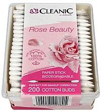 Parfumuri și produse cosmetice Bețișoare din bumbac - Cleanic Rose Beauty Cotton Buds