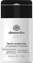 Parfumuri și produse cosmetice Pudră de curățare pentru mâini - Alessandro International Spa Magic Manicure Cleansing Powder