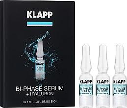 """Parfumuri și produse cosmetice Ser bifazic pentru față """"Hyaluron"""" - Klapp Bi-Phase Serum Hyaluron"""