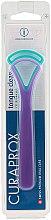 Parfumuri și produse cosmetice Periuță pentru curățarea limbii CTC 203, albastru + violet - Curaprox Tongue Cleaner