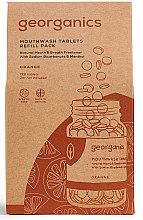 """Parfumuri și produse cosmetice Tablete pentru apă de gură """"Portocală"""" - Georganics Mouthwash Tablets Refill Pack Orange (rezervă)"""