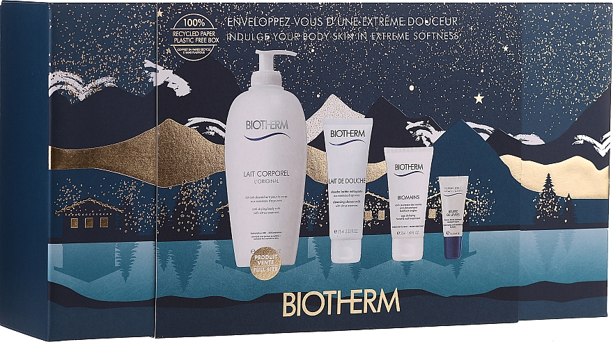 Set - Biotherm Water Lovers (b/milk/400ml + milk/75ml + h/cr/50ml + lip/balm/5ml)