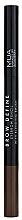 Parfumuri și produse cosmetice Creion pentru sprâncene - MUA Brow Define Eyebrow Pencil With Blending Brush