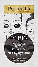 Parfumuri și produse cosmetice Plasture pentru cercurile întunecate de sub ochi cu cărbune - Dax Cosmetics Perfecta Eye Patch