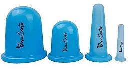 Parfumuri și produse cosmetice Borcane din silicon pentru față și corp, 37165, albastru, mix - Deni Carte