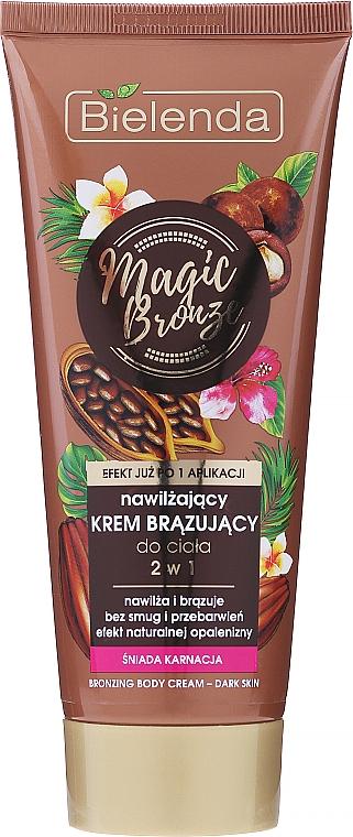 Cremă hidratantă, pentru bronzare - Bielenda Magic Bronze 2in1 Moisturizing Bronze Cream For Dark Skin
