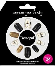 Parfumuri și produse cosmetice Unghii false, cu adeziv, 3056 - Donegal Express Your Beauty