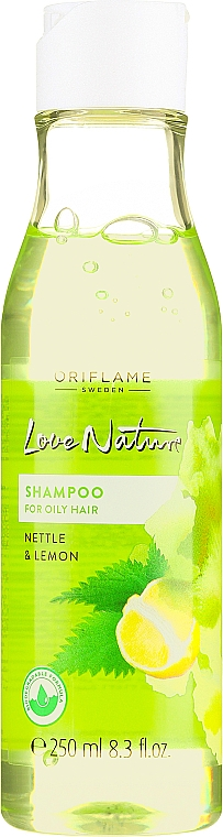 """Șampon pentru păr gras """"Urzică și lămâie"""" - Oriflame Love Nature Shampoo — Imagine N1"""