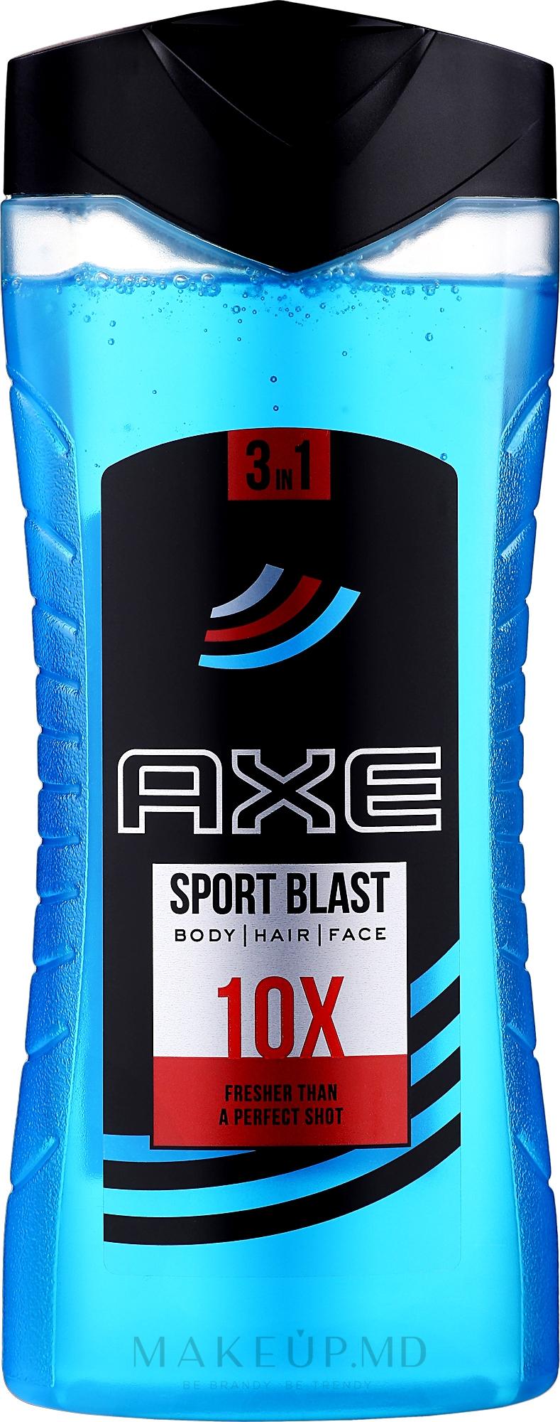 """Gel-șampon pentru duș """"Motivație sportivă"""" - Axe Re-Energise After Sport Body And Hair Shower Gel Sport Blast — Imagine 400 ml"""
