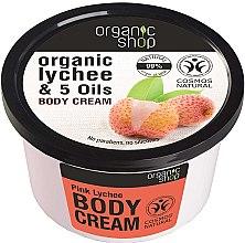 """Parfumuri și produse cosmetice Cremă de corp """"Litchi roz"""" - Organic Shop Body Cream Organic Lichee & Oils"""