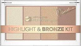 Parfumuri și produse cosmetice Paletă iluminator și bronzer pentru față - Bell HYPOAllergenic Highlight & Bronze Kit by Marcelina