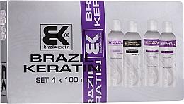 Parfumuri și produse cosmetice Set - Brazil Keratin Start Beauty (treatment/100ml + sh/2x100ml + cond/100ml)